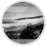 Round Beach Towel featuring the photograph Mountain Mist by Pete Federico