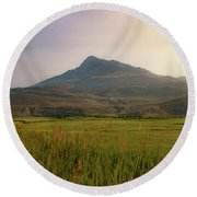 Round Beach Towel featuring the photograph Mountain Sunrise by Nicole Lloyd