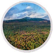 Round Beach Towel featuring the photograph Mountain That Stands Alone by Michael Hughes