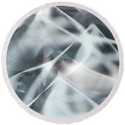 Mountains In The Mist Round Beach Towel