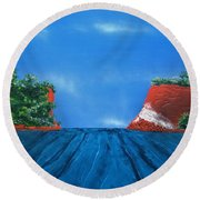 Mouth Of The Hay River Round Beach Towel