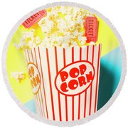 Movie Motion Picture  Round Beach Towel