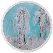 Mr And Mrs Angels Round Beach Towel