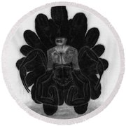 Mr Death - Artwork Round Beach Towel
