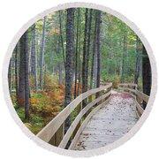 Mud Pond Trail - Pondicherry Wildlife Refuge, New Hampshire Round Beach Towel