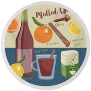 Mulled Wine Round Beach Towel