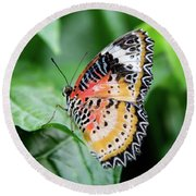 Multi Colored Butterfly Round Beach Towel