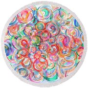 Multicolor Bubbles Round Beach Towel