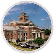 Municipal Building - North Augusta Sc Round Beach Towel