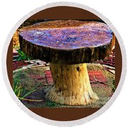 Mushroom Table Round Beach Towel