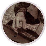 Round Beach Towel featuring the photograph Musician 1349 by Guy Whiteley