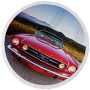 Mustang Convertible Round Beach Towel