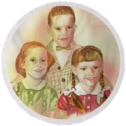 The Latimer Kids Round Beach Towel