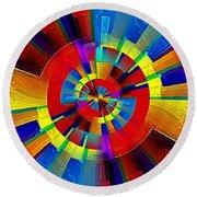 My Radar In Color Round Beach Towel