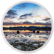 Myre Swapm Walkway On Vesteralen Norway Round Beach Towel
