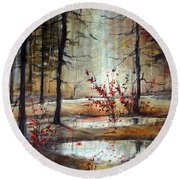 Mystic Forest Round Beach Towel