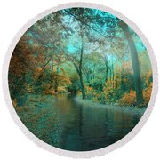 Mystic Morning Round Beach Towel