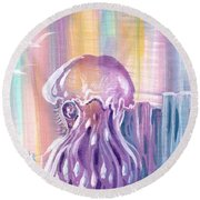 Mystic Waters Round Beach Towel