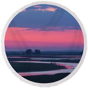 Round Beach Towel featuring the photograph Mystical River by Davor Zerjav