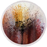 Round Beach Towel featuring the painting Nahum 1 7. A Stronghold by Mark Lawrence