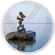 Zen Stack #9 Round Beach Towel