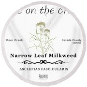 Narrow Leaf Milkweed Round Beach Towel
