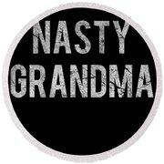 Nasty Grandma Vintage Round Beach Towel