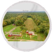 Round Beach Towel featuring the photograph Nathan Hale Homestead by Michael Hughes