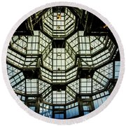 Glass Ceiling National Gallery Of Canada Round Beach Towel