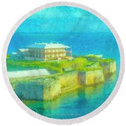 National Museum Of Bermuda Round Beach Towel