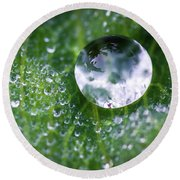 Natures Crystal Ball Round Beach Towel