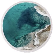 Nature's Hot Tub Round Beach Towel