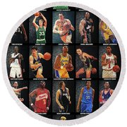 Nba Legends Round Beach Towel