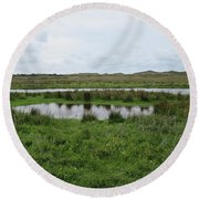 Near De Muy On Texel Round Beach Towel