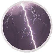 Nebraska Arcus And Lightning 046 Round Beach Towel