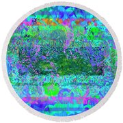 Round Beach Towel featuring the photograph Neverland by Mike Braun