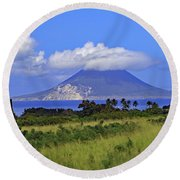 Round Beach Towel featuring the photograph Nevis by Tony Murtagh