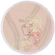 New Perspective  Round Beach Towel