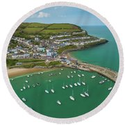 New Quay, Wales, From The Air Round Beach Towel
