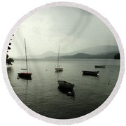 Round Beach Towel featuring the photograph Newfound Vista by Wayne King