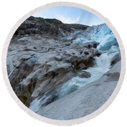 Round Beach Towel featuring the photograph Nigardsbreen, Norway by Andreas Levi