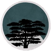 Night In Safari Round Beach Towel