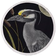 Night Watchman Round Beach Towel