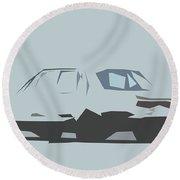Nissan Skyline 2000gt R Sedan Abstract Design Round Beach Towel