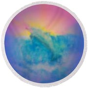 Round Beach Towel featuring the mixed media No Limits by Sabine ShintaraRose
