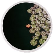 No Mud No Lotus Round Beach Towel