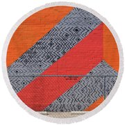 Round Beach Towel featuring the photograph No Trespassing by Skip Hunt