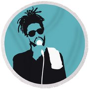 No225 My Peter Tosh Minimal Music Poster Round Beach Towel