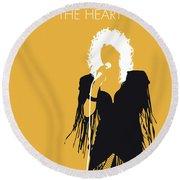 No264 My Bonnie Tyler Minimal Music Poster Round Beach Towel
