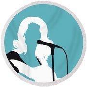 No275 My Tammy Wynette Minimal Music Poster Round Beach Towel